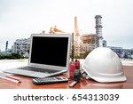 engineering industry concept in ... | Shutterstock . vector #654313039