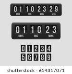 countdown timer  a mechanical... | Shutterstock .eps vector #654317071