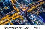 aerial view bridge link between ... | Shutterstock . vector #654322411