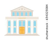 theatre building with columns... | Shutterstock .eps vector #654325084