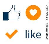 set like icon. like counter...   Shutterstock .eps vector #654326314