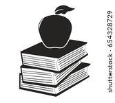 apple on the books | Shutterstock .eps vector #654328729