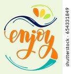 enjoy   lettering logo colorful ... | Shutterstock .eps vector #654331849