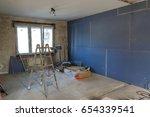 interior of a house under... | Shutterstock . vector #654339541