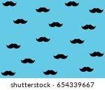 mustache vector pattern... | Shutterstock .eps vector #654339667