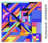trendy geometric elements...   Shutterstock .eps vector #654340645