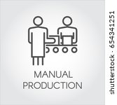 label of manual production.... | Shutterstock .eps vector #654341251