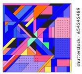 trendy geometric elements... | Shutterstock .eps vector #654343489