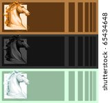 banners with horse head | Shutterstock .eps vector #65434648