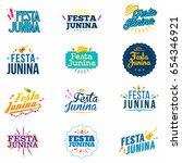 festa junina badges set.... | Shutterstock .eps vector #654346921