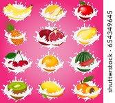 splash of milk  caused by... | Shutterstock .eps vector #654349645