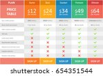 pricing plans and tables for... | Shutterstock .eps vector #654351544