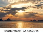 Dramatic Sunset On The Sea Wit...