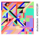 trendy geometric elements...   Shutterstock .eps vector #654352189