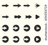arrow symbols and icons   Shutterstock .eps vector #654353719