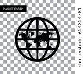 vector circle planet earth... | Shutterstock .eps vector #654354781