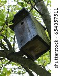 Wooden Box For Birds On The...