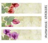 flower artwork on cracked... | Shutterstock . vector #65436181