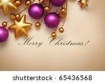 christmas frame for greeting...   Shutterstock . vector #65436568