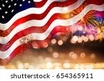 celebrating the 4th of july ... | Shutterstock . vector #654365911