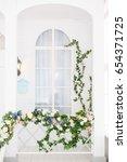 Elegant White Window In Spring...