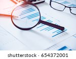 charts and graphs with... | Shutterstock . vector #654372001