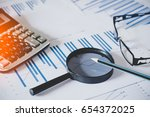 charts and graphs with... | Shutterstock . vector #654372025