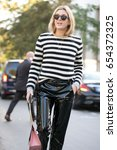 paris october 3  2016. street... | Shutterstock . vector #654372325