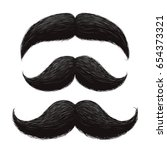 funny retro hair mustaches... | Shutterstock .eps vector #654373321