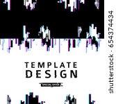 template design banner glitch... | Shutterstock .eps vector #654374434