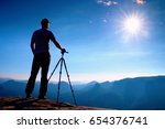 professional photographer stay  ... | Shutterstock . vector #654376741