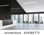 side view of a white and black...   Shutterstock . vector #654384775