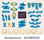 vector collection of decorative ... | Shutterstock .eps vector #654385534