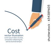 cost reduction concept. cost... | Shutterstock .eps vector #654389605