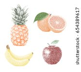 tropical nature fresh colorful... | Shutterstock .eps vector #654389617
