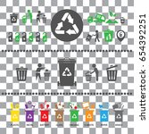 vector trash categories recycle ... | Shutterstock .eps vector #654392251