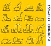 building industrial  factory... | Shutterstock .eps vector #654394021