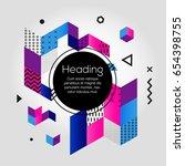 abstract background   vector... | Shutterstock .eps vector #654398755