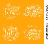 summer month   june  july and... | Shutterstock .eps vector #654401029