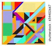 trendy geometric elements... | Shutterstock .eps vector #654402667