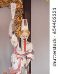Small photo of THIAN HOCK KENG, SINGAPORE, JANUARY, 2015: white impermanence statue at Thian Hock Keng in Singapore