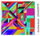 trendy geometric elements... | Shutterstock .eps vector #654405979