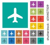 airplane multi colored flat... | Shutterstock .eps vector #654407509