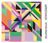 trendy geometric elements...   Shutterstock .eps vector #654410689