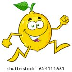 healthy yellow lemon fresh... | Shutterstock .eps vector #654411661