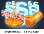recuse legal gavel concept with ... | Shutterstock . vector #654415384