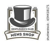 mens shop vintage isolated... | Shutterstock .eps vector #654418171