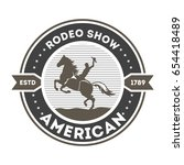 american rodeo show isolated... | Shutterstock .eps vector #654418489
