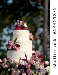 beautiful wedding cake  close... | Shutterstock . vector #654421375