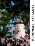 beautiful wedding cake  close... | Shutterstock . vector #654422851